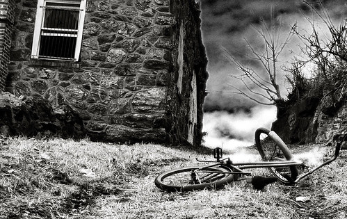 Abandoned bike and building | by Jack Mallon