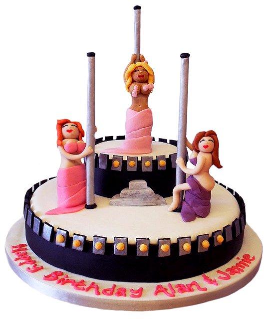 Striper Birthday Cake