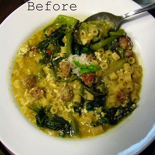 Italian Wedding Soup (Escarole Soup) before | by SeppySills