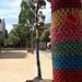 yarn bombed park