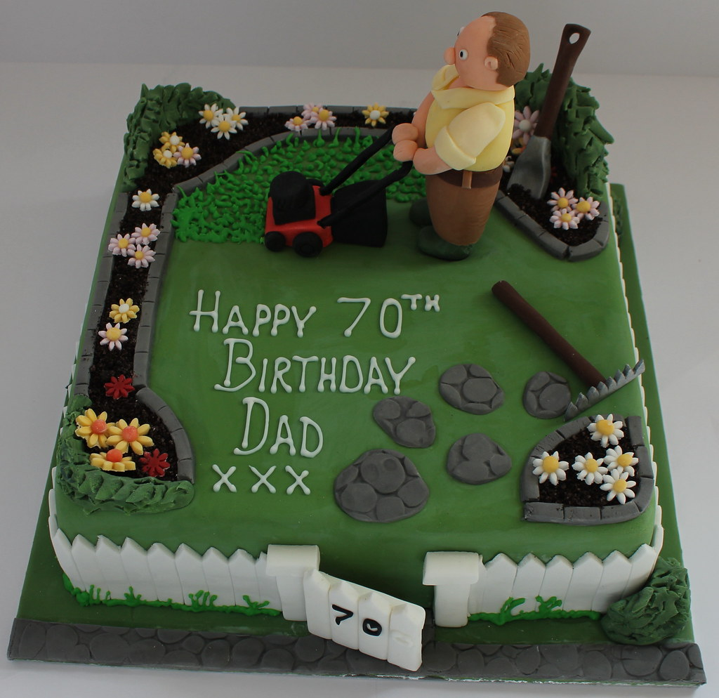Gardeners birthday cake pauls creative cakes flickr for Gardening 80th birthday cake