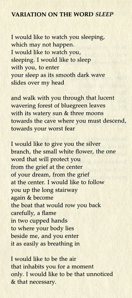 an interpretation of you begin a poem by margaret atwood