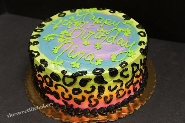 Cheetah Cake Pan