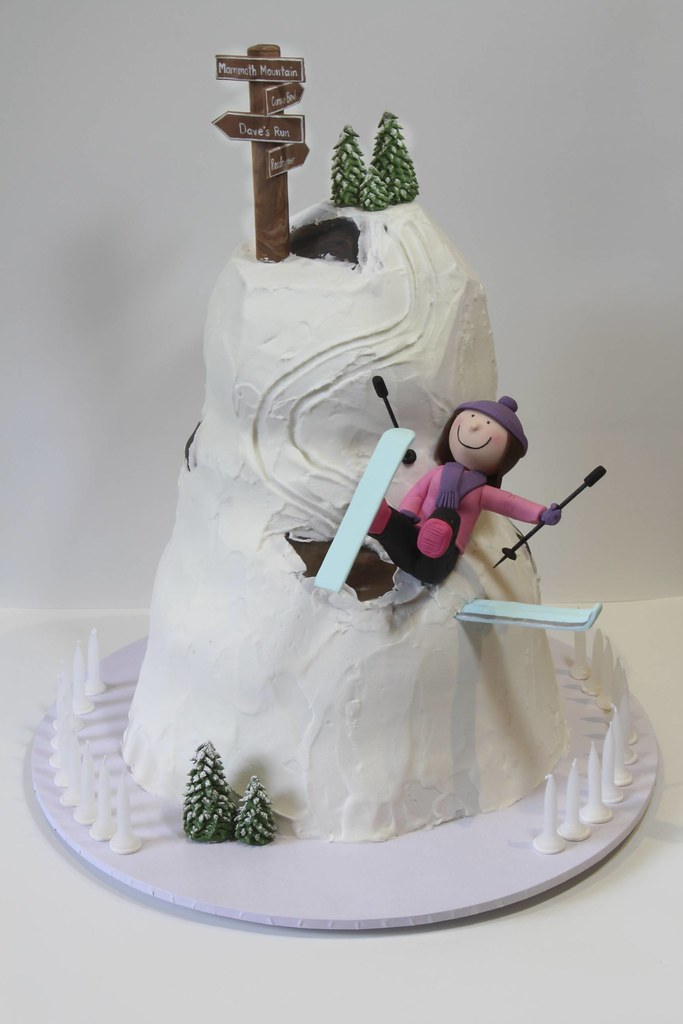 Skiing Cake A 21st Birthday Cake For A Ski Instructor
