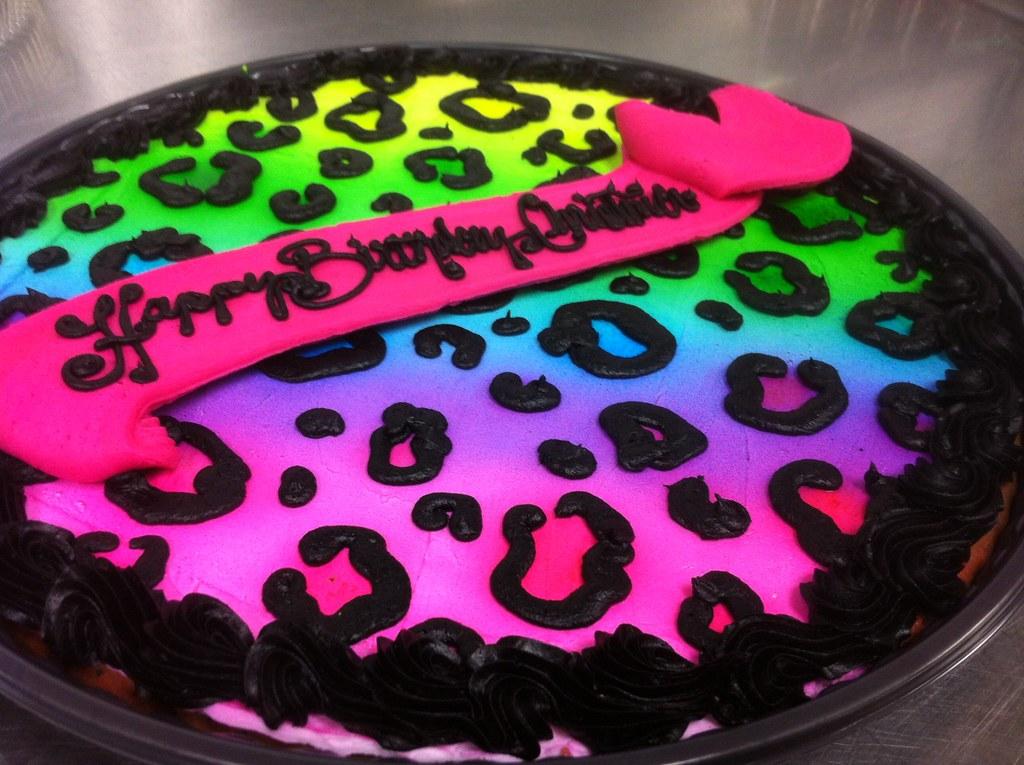 Colorful Cheetah Cake