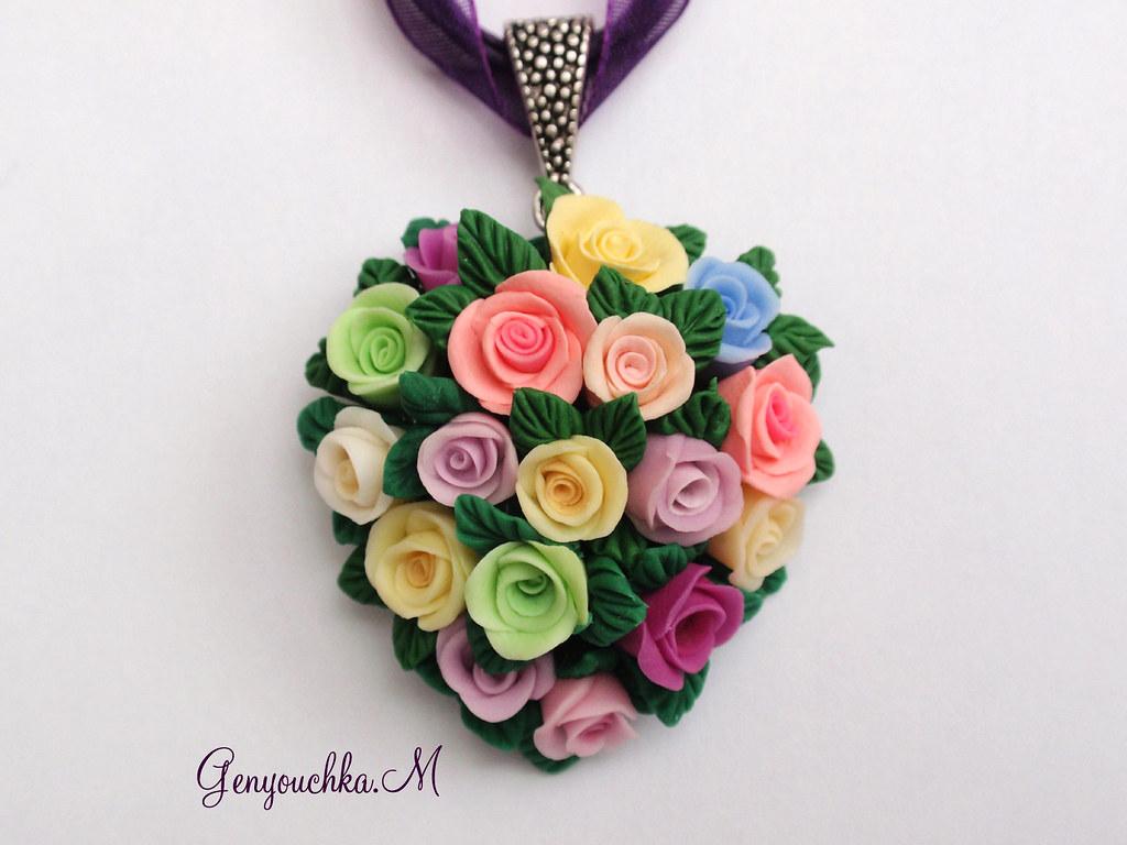 Bouquet de roses en forme de coeur pendentif en bouquet de flickr - Bouquet de roses en forme de coeur ...