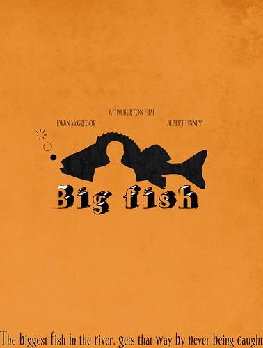 Big fish poster design minimal movie poster design for Big fish movie online