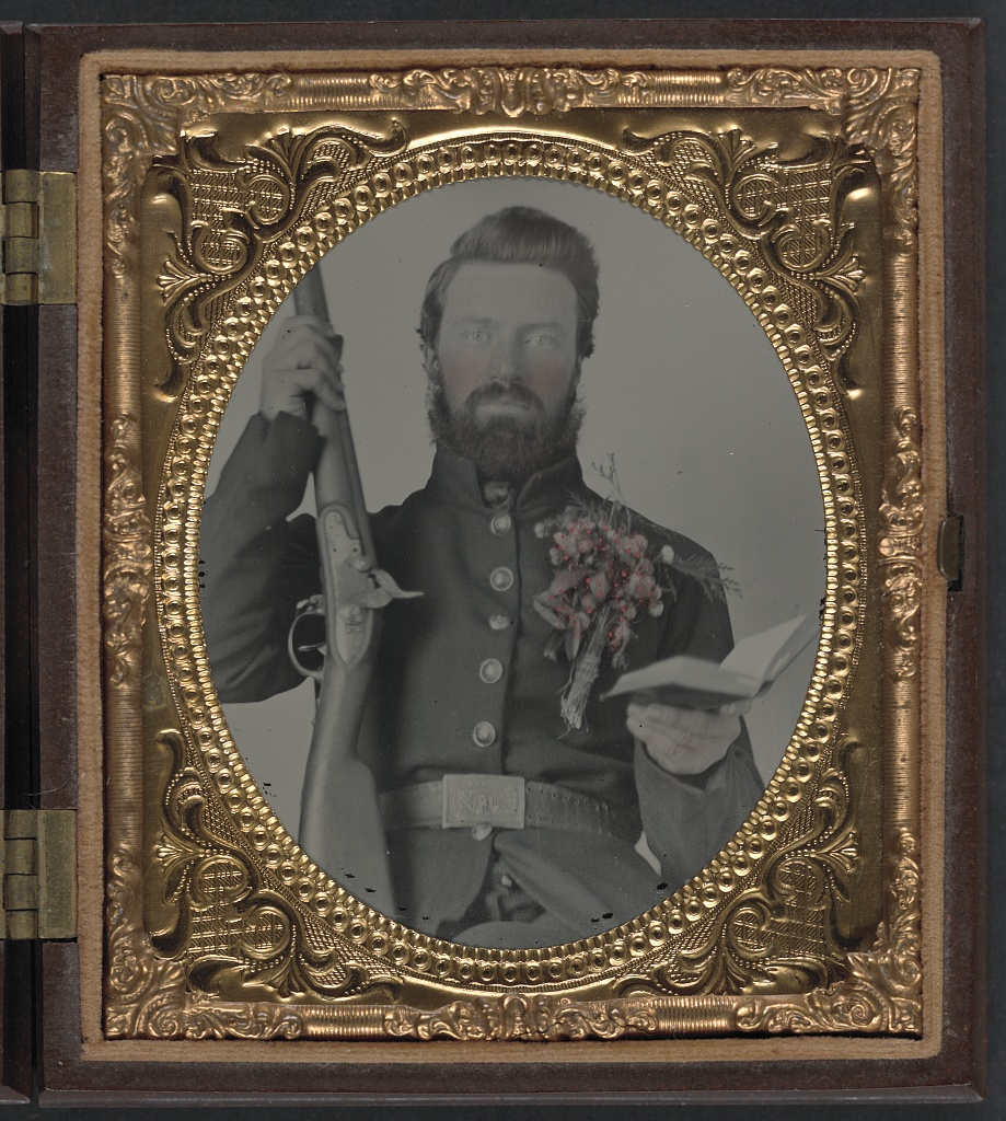 Private David Lowry Of Company E 25th Virginia Cavalry