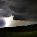 Lightening bolt and dark clouds