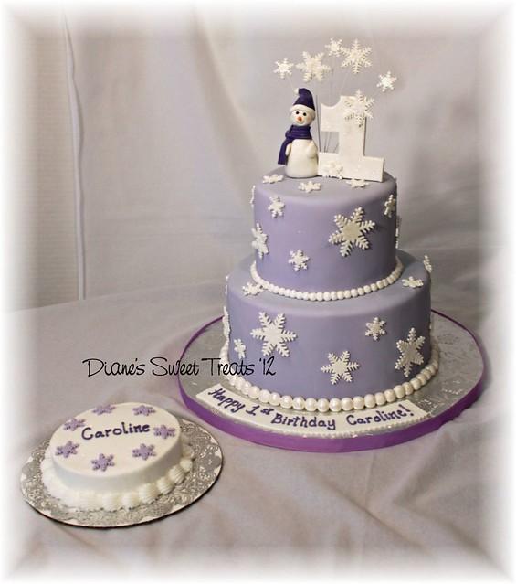 Snowflake 1st Birthday Cake Snowflake First Birthday Cake