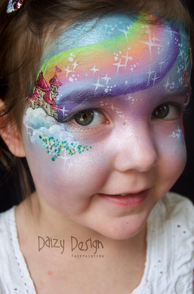 Fairy tale face painting daizy design face painting www for Latest face painting designs