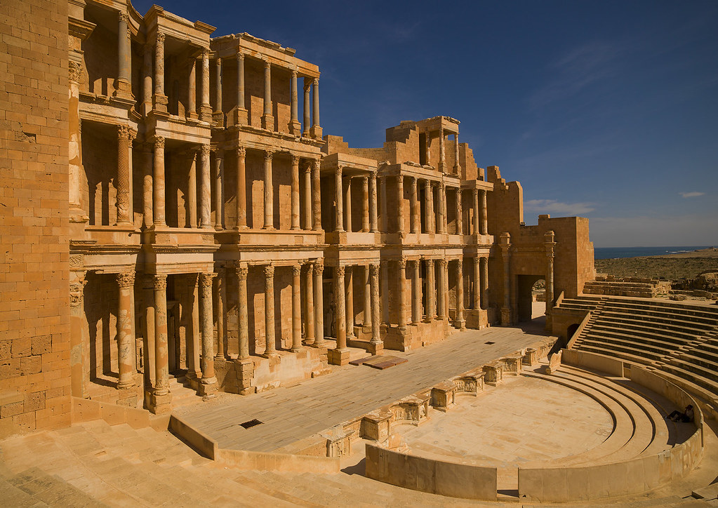 Theatre In Ancient Roman City Sabratha Libya In Roman