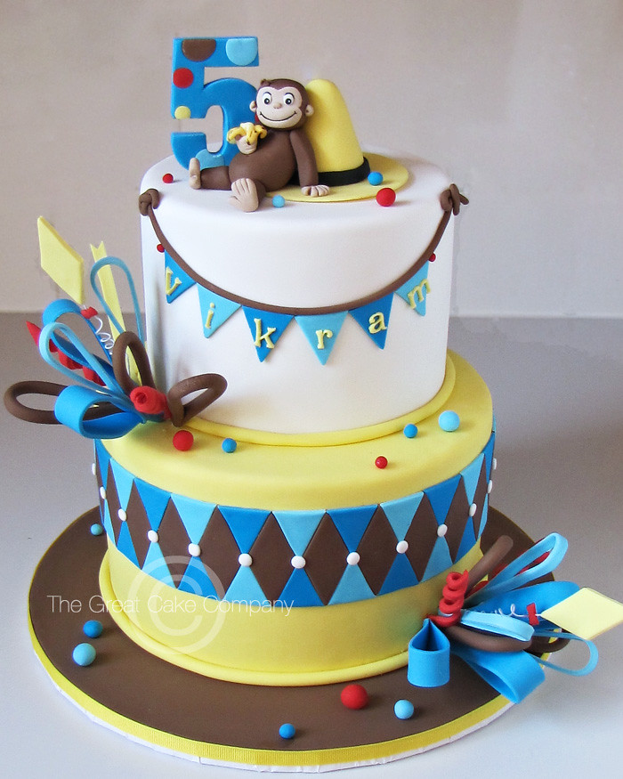 Curious George Cake A Curious George Themed Cake For A