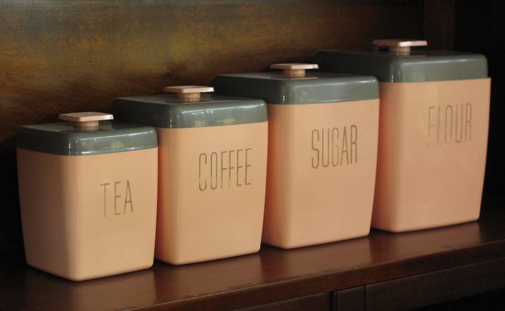 tea coffee sugar flour canisters heather david flickr. Black Bedroom Furniture Sets. Home Design Ideas