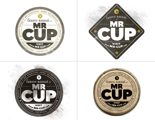 Mr-Cup logo variations | by fabienbarral