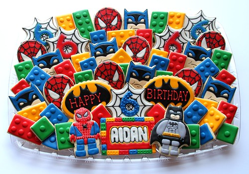 Super Hero Lego Birthday Platter | by cookieartisan