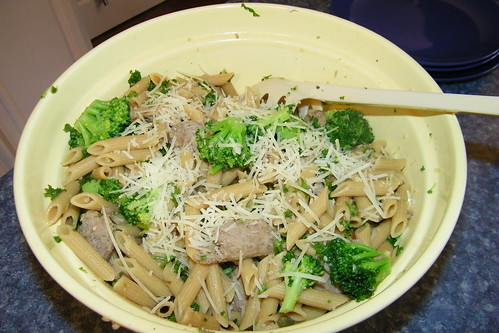 295/365/1390 (April 1, 2012) – Penne with Broccoli and Turkey Sausage | by cseeman