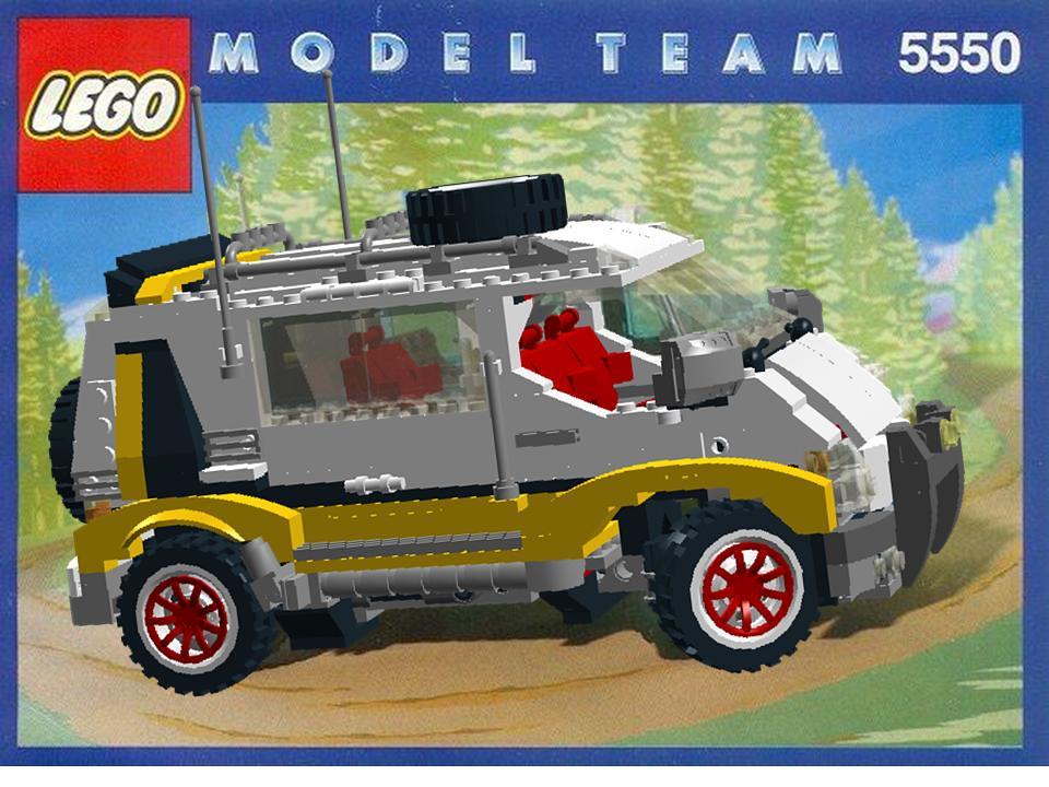 lego model team nr 5550 custom rally van overhaulled. Black Bedroom Furniture Sets. Home Design Ideas