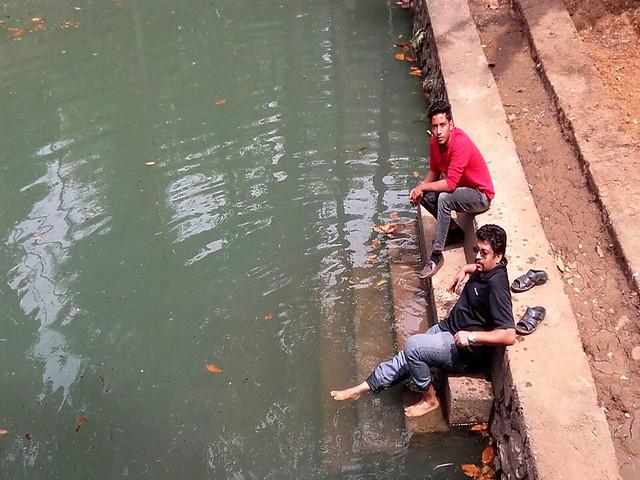 सफाई के बाद तालाब की स्थिति