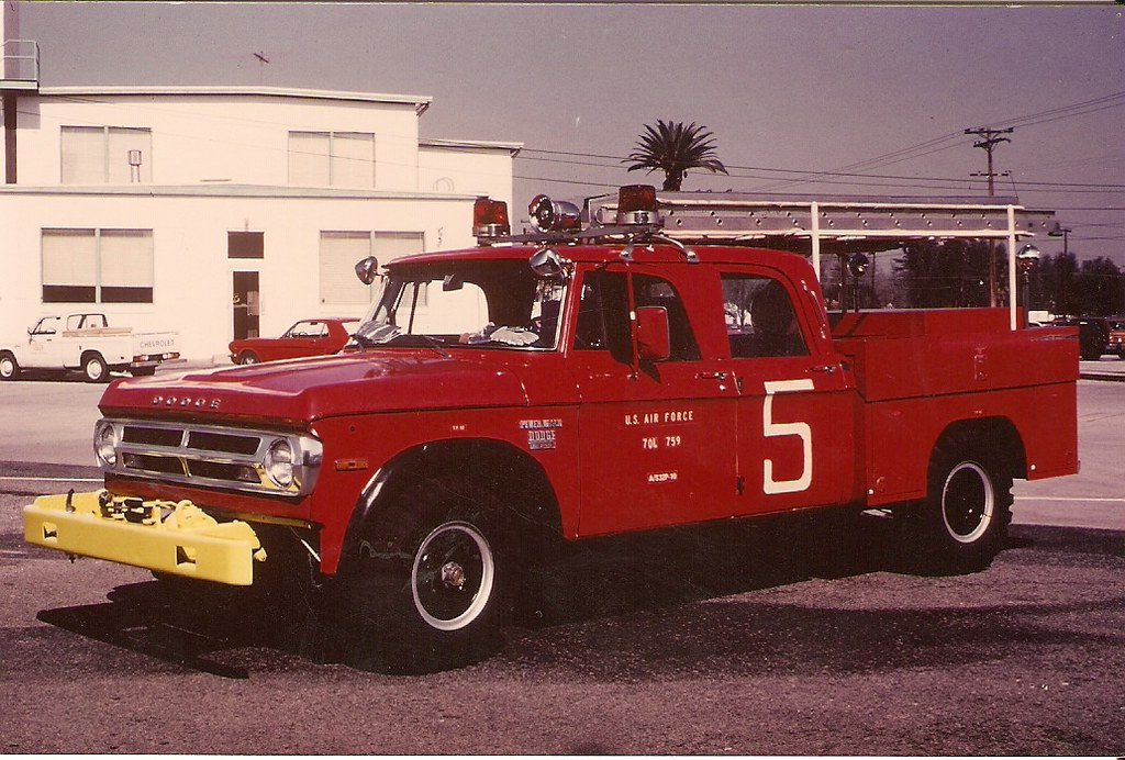 Pics Of Dodge Trucks >> USAF   1970 Dodge-Partner, P-10, 70L 759, March AFB   Fire Trucks at War   Flickr
