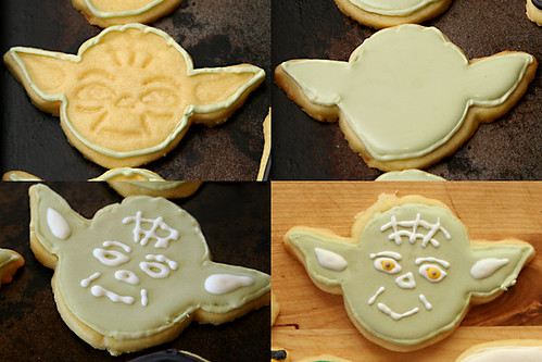 star wars cookies 3 yoda | by crumblycookie