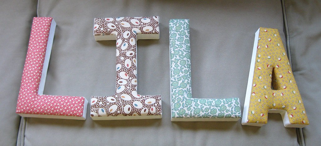 fabric covered letters for lila papier mache letters cover