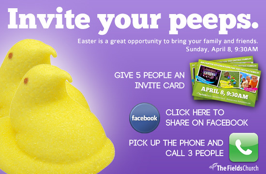 easter  invite your peeps