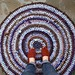 Purple & Brown Rag Rug