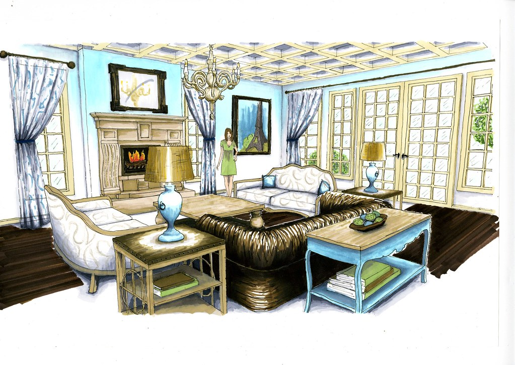Living room rendering albarton925 flickr for Online drawing room