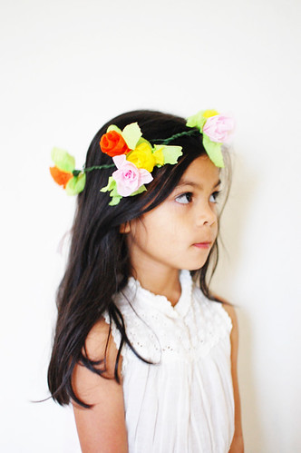 diy: crepe paper flower crown | by rubyellen