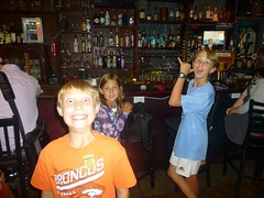 Kids at the bar