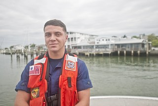 Dinner and a rescue; Off-duty Coast Guardsman takes life-saving action in Beaufort, NC