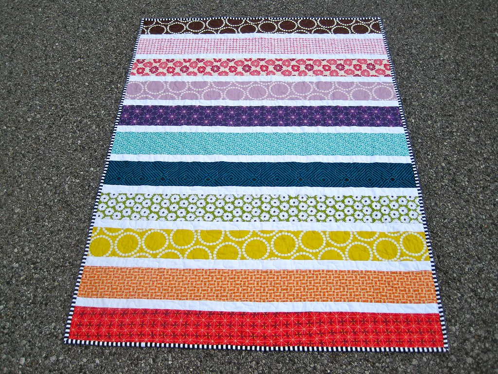 Rainbow Stripe Quilt Kelly Flickr