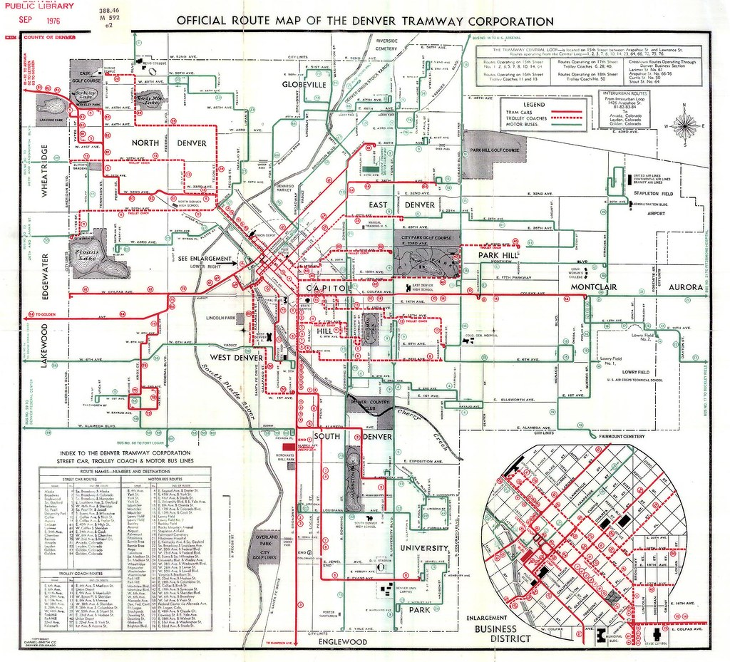 1948 Official Route Map Of The Denver Tramway Corporation Flickr