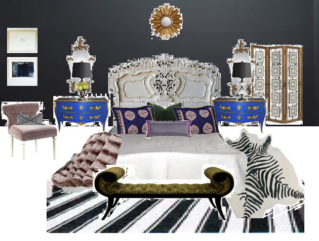 Liv Chic bedroom concept featuring our Rococo bed and mode