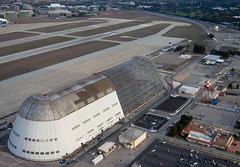 Hangar 1 from the air