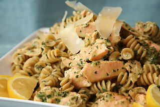 salmon pesto pasta 4 | by crumblycookie