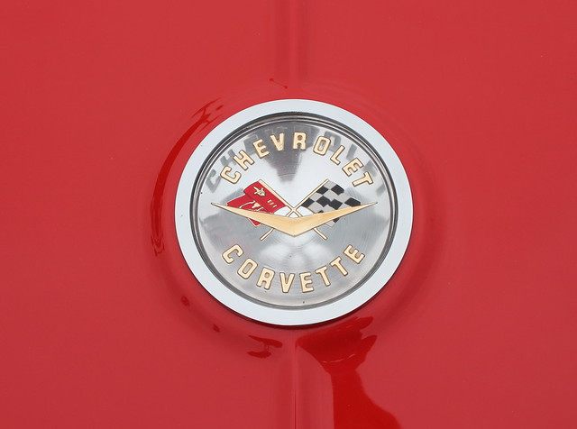 The emblem of an american classic sports car chevrolet for American classic logo