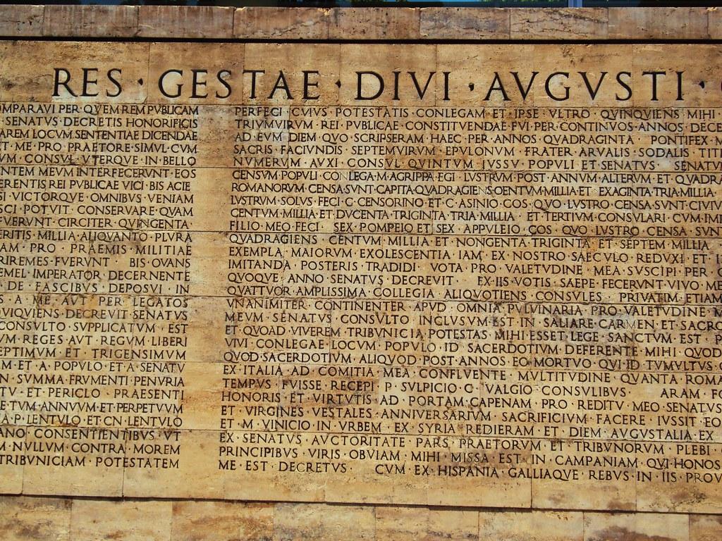 Res gestae divi avgvsti res gestae of divine augustus - Res gestae divi augusti ...