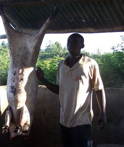 Pig slaughter slab Funyula, Western Kenya | by International Livestock Research Institute