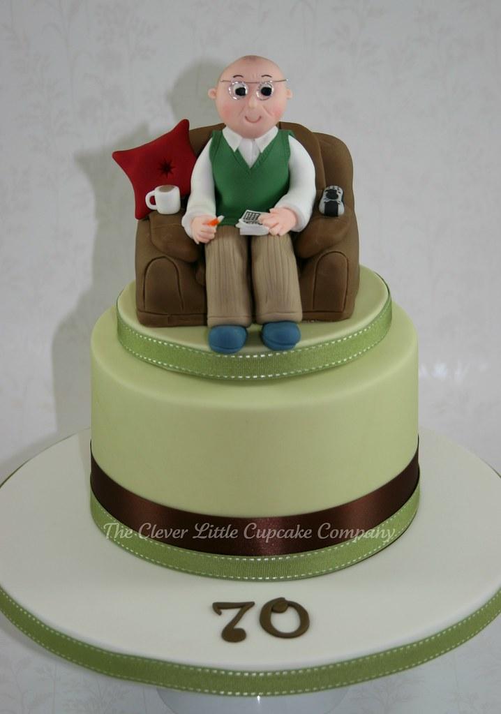 Cake Designs Ideas 70th Birthday : 70th Birthday Celebration Cake All vanilla sponge. Hand ...