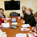 UN Women Executive Director Michelle Bachelet meets with Jasna Matic, State Secretary of the Ministry of Culture, Media and Information Society of the Republic of Serbia