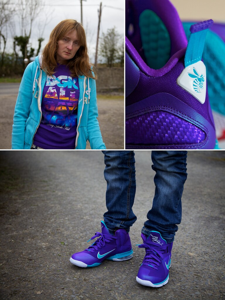 ... nike lebron 9 summit lake hornets