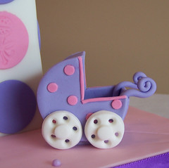 Gumpaste carriage close up