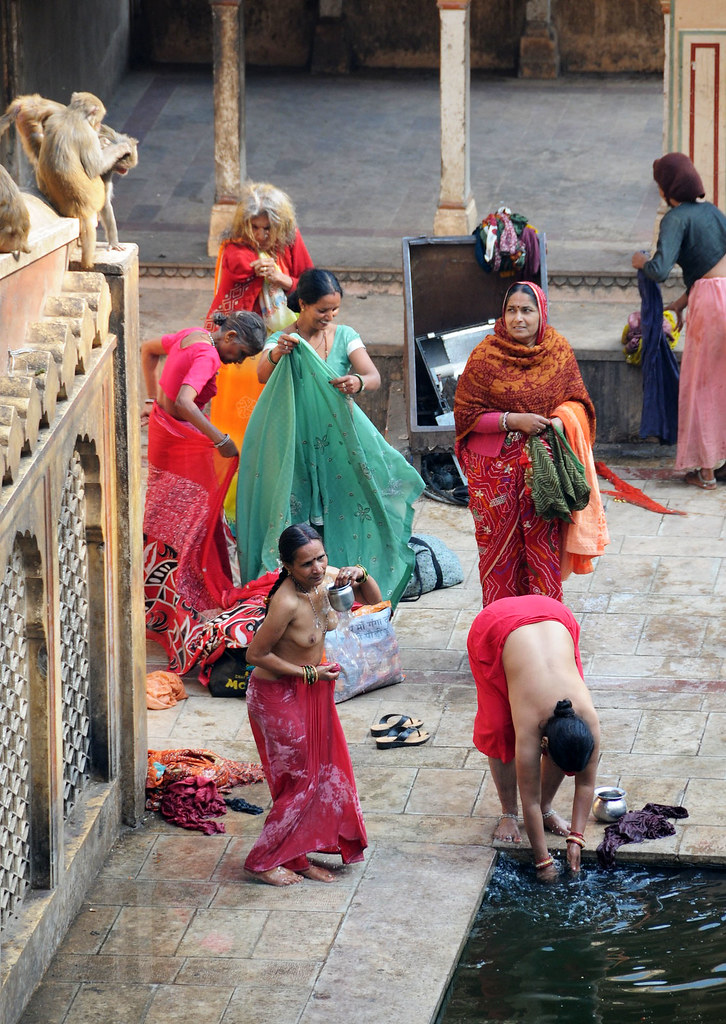 Locals Bathing At Galta Temple, Jaipur  India  Anjci All -2054