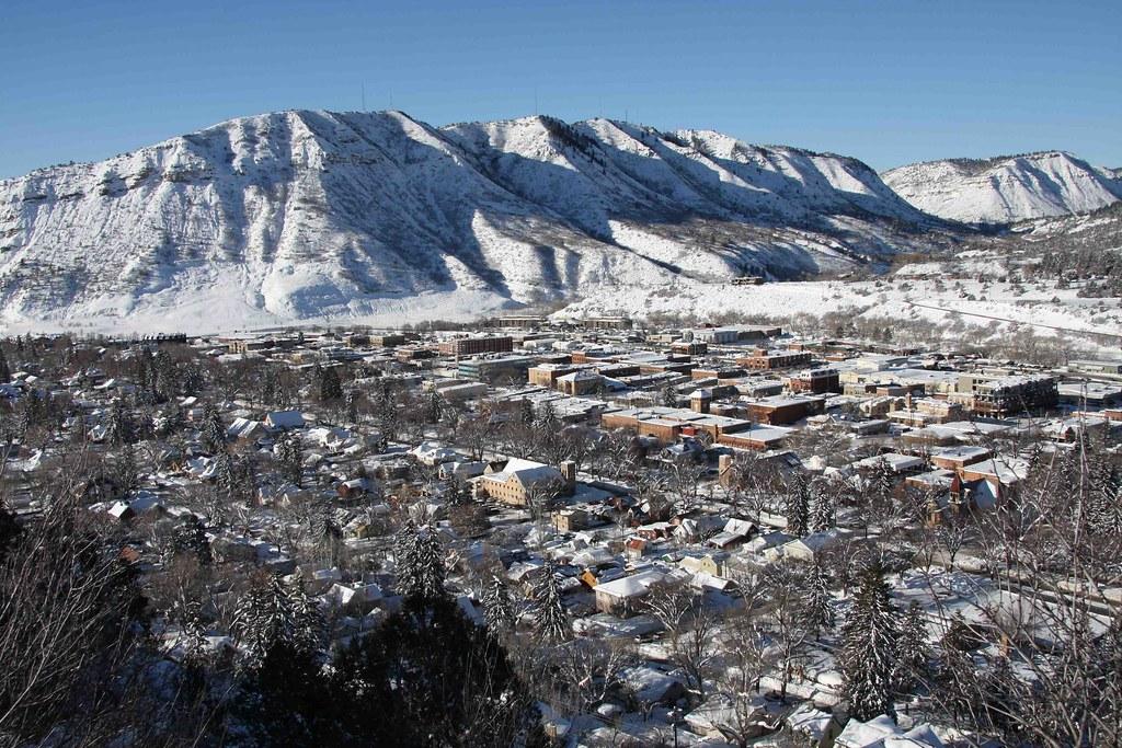 view of durango  colorado in winter