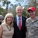 Governor and First Lady Scott visit with troops during a deployment ceremony at Camp Blanding