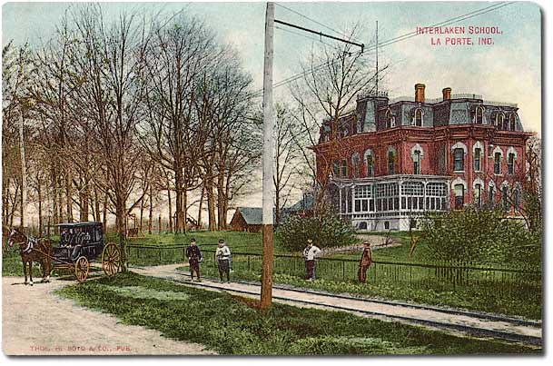 Interlaken school near la porte indiana 1909 postcard vie flickr for Jobs near la porte in