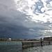 Storm clouds approaching over Geneva, Switzerland