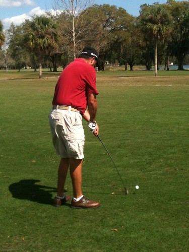Major League Golf Scramble participant from the fairway | by Catch Central Florida